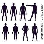 full length front  back... | Shutterstock . vector #264171500