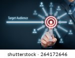 target audience concept.... | Shutterstock . vector #264172646
