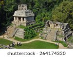 mayan ruins in palenque ... | Shutterstock . vector #264174320