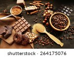 still life with set of... | Shutterstock . vector #264175076