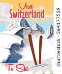Switzerland Ski Poster...