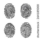 finger prints set icon vector.... | Shutterstock .eps vector #264185000