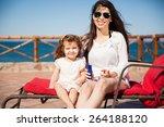 portrait of a little hispanic... | Shutterstock . vector #264188120