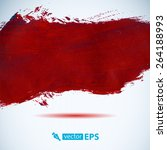 vector acrylic red ink spot. ... | Shutterstock .eps vector #264188993
