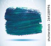 vector acrylic blue ink spot.... | Shutterstock .eps vector #264188996