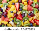 background of healthy fresh... | Shutterstock . vector #264191039