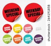 weekend special  weekday... | Shutterstock .eps vector #264191858