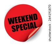 weekend special sticker and tag | Shutterstock . vector #264191870