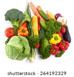 fresh vegetables | Shutterstock . vector #264192329