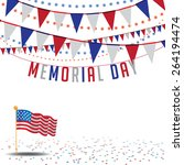 Stock vector memorial day sale bunting background eps vector royalty free stock illustration for greeting 264194474