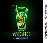 neon sign. cocktail | Shutterstock .eps vector #264196700