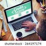 digital online credit score... | Shutterstock . vector #264197174