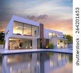 3d rendering of impressive... | Shutterstock . vector #264201653