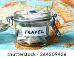 travel budget   vacation money... | Shutterstock . vector #264209426