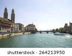 zurich city center and limmat... | Shutterstock . vector #264213950