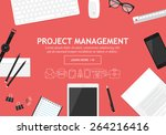 flat modern design concept for... | Shutterstock .eps vector #264216416