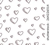 cute hand drawn seamless... | Shutterstock .eps vector #264226514