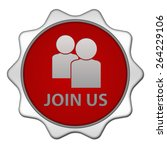 join us circular icon on white... | Shutterstock . vector #264229106