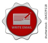 email circular icon on white...   Shutterstock . vector #264229118