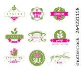 spring sale retro icon... | Shutterstock . vector #264231158