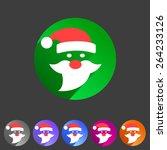 flat santa claus christmas icon ...