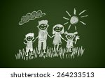 happy family | Shutterstock . vector #264233513