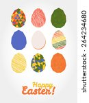 'happy easter ' greeting card.... | Shutterstock .eps vector #264234680