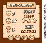 game wood level complete icons...