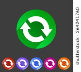 refresh reload flat icon badge...