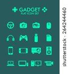 vector flat icon set   gadget