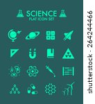 vector flat icon set   science
