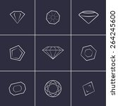 set of icons on a theme gems | Shutterstock .eps vector #264245600