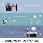 vector illustration of teamwork ... | Shutterstock .eps vector #264254903