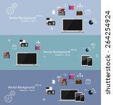 vector illustration of teamwork ... | Shutterstock .eps vector #264254924