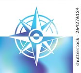 wind rose symbol   marine... | Shutterstock .eps vector #264276134