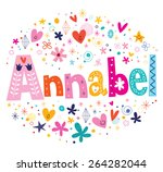 annabel girl name decorative... | Shutterstock .eps vector #264282044