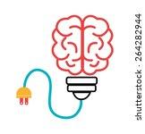 brain design over white... | Shutterstock .eps vector #264282944