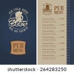 menu for a beer bar on denim | Shutterstock .eps vector #264283250
