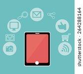 technology design over blue... | Shutterstock .eps vector #264288164