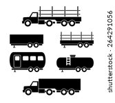 set of transport black icons.... | Shutterstock .eps vector #264291056