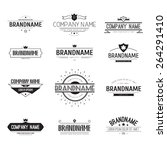 vintage logo set  retro design... | Shutterstock .eps vector #264291410
