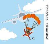 parachute fly design  vector... | Shutterstock .eps vector #264293618
