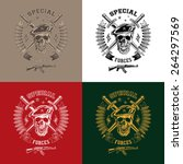 special forces monochrome... | Shutterstock .eps vector #264297569