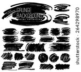 set of black ink vector stains | Shutterstock .eps vector #264298970