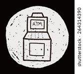 doodle atm | Shutterstock . vector #264314390