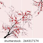 Blooming Tree.the Vector...