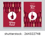 invitation for wine party  can... | Shutterstock .eps vector #264322748