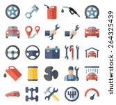 car service maintenance flat... | Shutterstock .eps vector #264325439