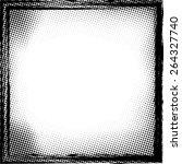 grunge halftone dots vector... | Shutterstock .eps vector #264327740