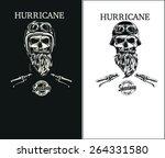 skull motorcycle racer.  | Shutterstock .eps vector #264331580